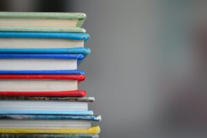 shallow focus photography of books
